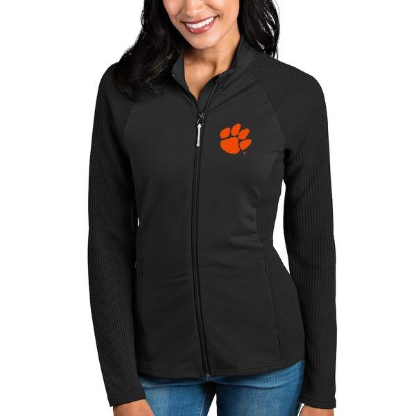アンティグア レディース ジャケット&ブルゾン アウター Clemson Tigers Antigua Women's Sonar Full-Zip Jacket Black