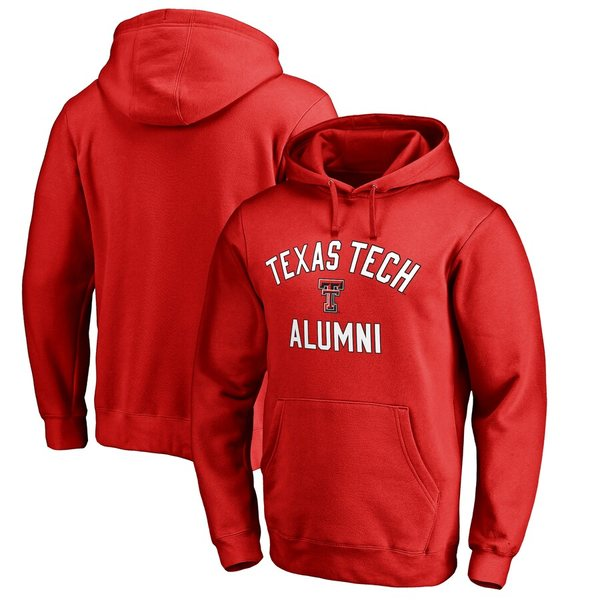 ファナティクス メンズ パーカー・スウェットシャツ アウター Texas Tech Red Raiders Fanatics Branded Team Alumni Pullover Hoodie Red