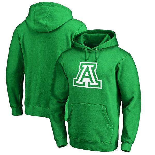 ファナティクス メンズ パーカー・スウェットシャツ アウター Arizona Wildcats Fanatics Branded St. Patrick's Day White Logo Pullover Hoodie Green