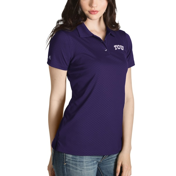 アンティグア レディース ポロシャツ トップス TCU Horned Frogs Antigua Women's Desert Dry Inspire Polo Purple