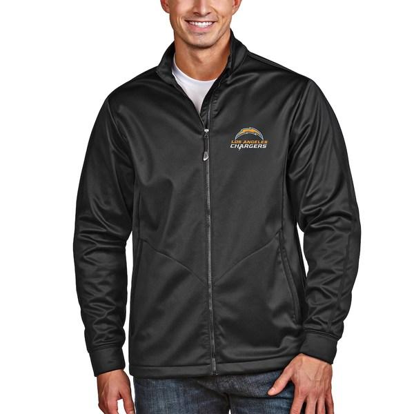 アンティグア メンズ ジャケット&ブルゾン アウター Los Angeles Chargers Antigua Full-Zip Golf Jacket Black