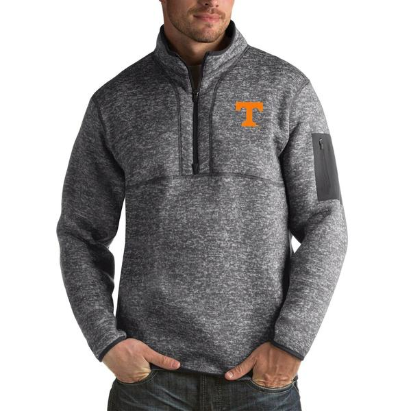 アンティグア メンズ ジャケット&ブルゾン アウター Tennessee Volunteers Antigua Fortune Big & Tall Quarter-Zip Pullover Jacket Charcoal