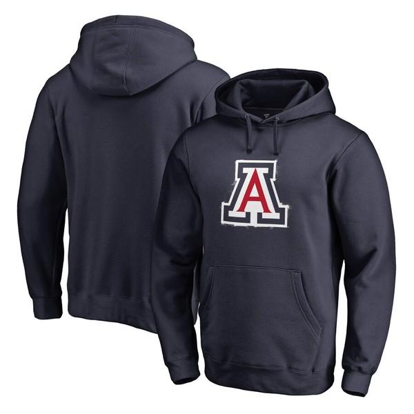 ファナティクス メンズ パーカー・スウェットシャツ アウター Arizona Wildcats Fanatics Branded Splatter Logo Pullover Hoodie Navy