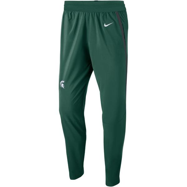 ナイキ メンズ カジュアルパンツ ボトムス Michigan State Spartans Nike Practice Pants Green