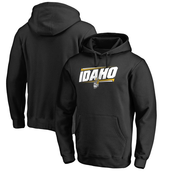 ファナティクス メンズ パーカー・スウェットシャツ アウター Idaho Vandals Double Bar Pullover Hoodie Black