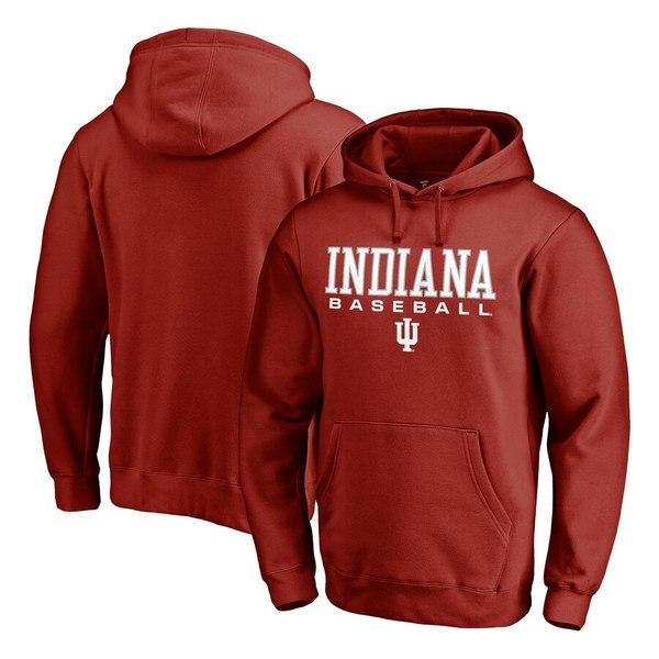 ファナティクス メンズ パーカー・スウェットシャツ アウター Indiana Hoosiers Fanatics Branded True Sport Baseball Pullover Hoodie Cardinal
