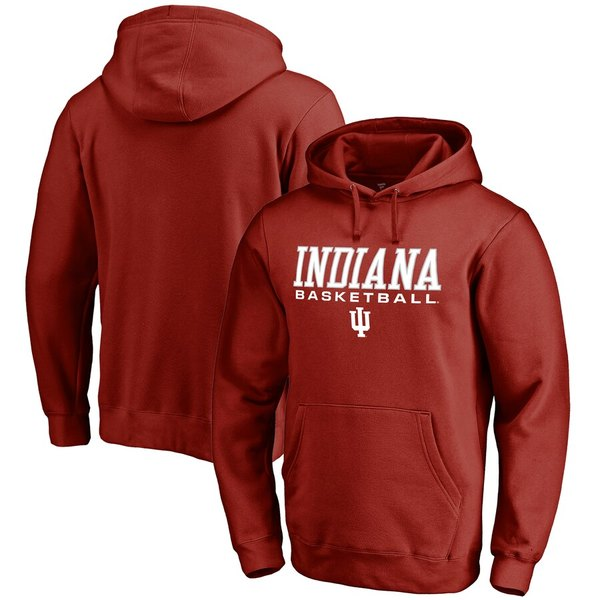 ファナティクス メンズ パーカー・スウェットシャツ アウター Indiana Hoosiers Fanatics Branded Basketball True Sport Pullover Hoodie Cardinal