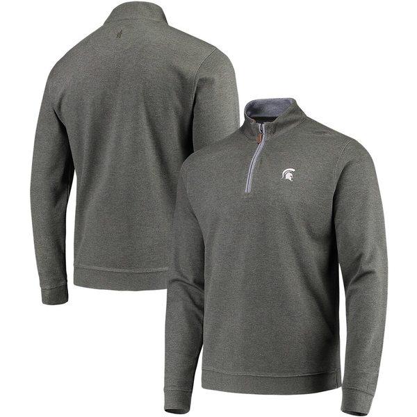 ジョニーオー メンズ ジャケット&ブルゾン アウター Michigan State Spartans johnnie-O Sully Quarter-Zip Pullover Jacket Green