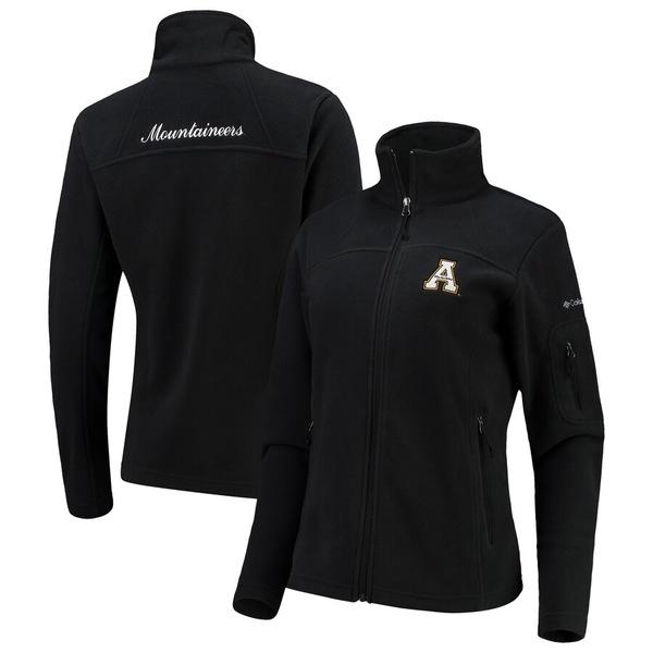 コロンビア レディース ジャケット&ブルゾン アウター Appalachian State Mountaineers Columbia Women's Give & Go Full-Zip Jacket Black
