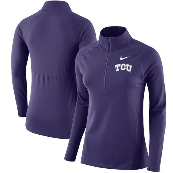 ナイキ レディース ジャケット&ブルゾン アウター TCU Horned Frogs Nike Women's Element Core 1/2 Zip Jacket Purple