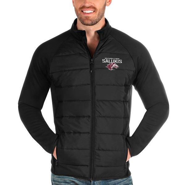 アンティグア メンズ ジャケット&ブルゾン アウター Southern Illinois Salukis Antigua Altitude Full-Zip Jacket Black