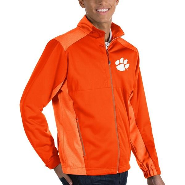 アンティグア メンズ ジャケット&ブルゾン アウター Clemson Tigers Antigua Revolve Full-Zip Jacket Orange