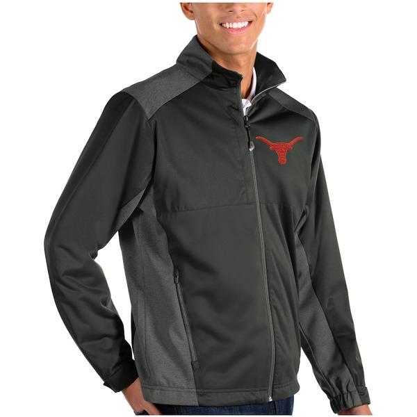 アンティグア メンズ ジャケット&ブルゾン アウター Texas Longhorns Antigua Revolve Full-Zip Jacket Charcoal