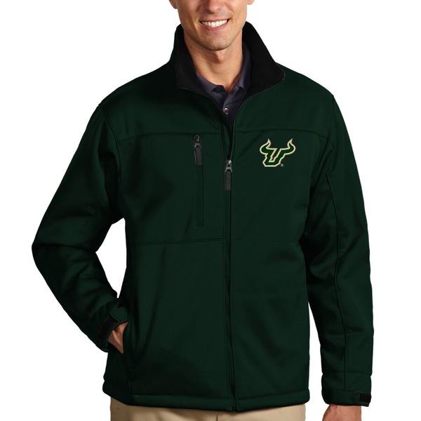 アンティグア メンズ ジャケット&ブルゾン アウター South Florida Bulls Antigua Traverse Full-Zip Jacket Green