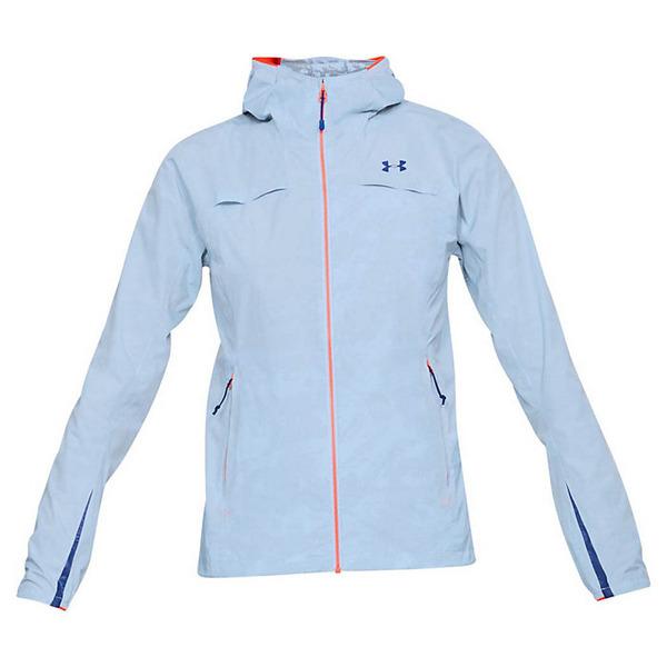 アンダーアーマー レディース ジャケット&ブルゾン アウター Under Armour Women's UA Scrambler Jacket Oxford Blue / Neon Coral / Formation Blue