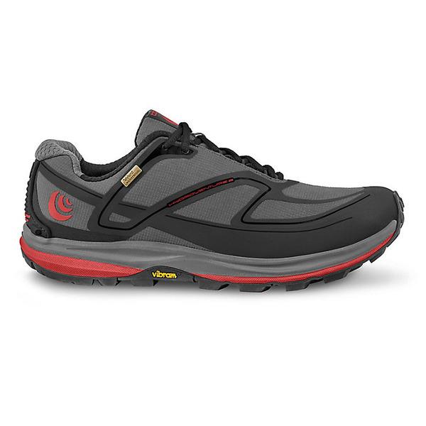 トポアスレチック メンズ ランニング スポーツ Topo Athletic Men's Hydroventure 2 Running Shoe Charcoal / Red
