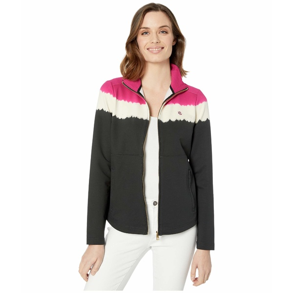 ラルフローレン レディース コート アウター Cotton-Blend Mock Neck Jacket Bright Fuchsia/Multi
