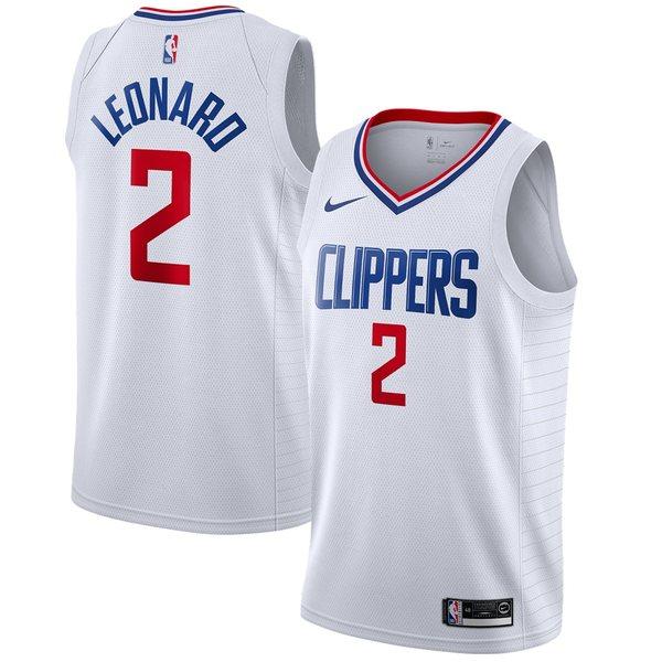 ナイキ メンズ ユニフォーム トップス Kawhi Leonard LA Clippers Nike 2019/2020 Swingman Jersey Association Edition White