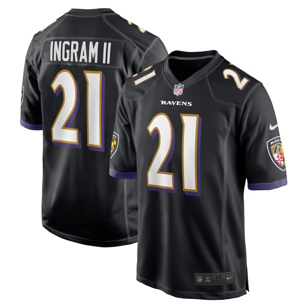ナイキ メンズ ユニフォーム トップス Mark Ingram Baltimore Ravens Nike Game Jersey Black