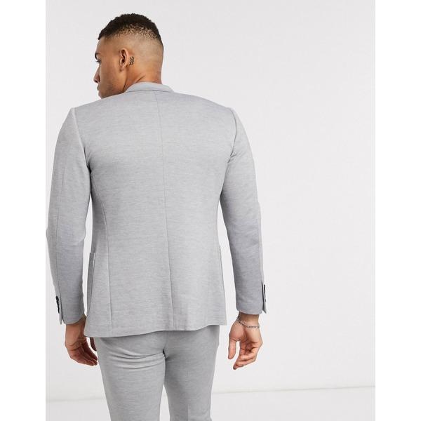 オンリーアンドサンズ メンズ ジャケット&ブルゾン アウター Only & Sons soft deconstructed blazer in gray Light gray melange