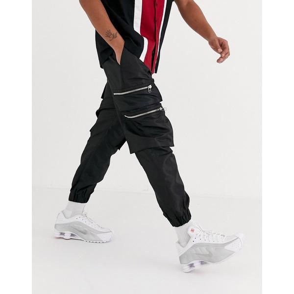 ザラグドプリースト メンズ カジュアルパンツ ボトムス The Ragged Priest utility track pants in black Black