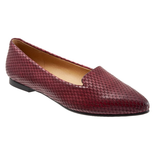 トロッターズ レディース サンダル シューズ Trotters Harlowe Pointy Toe Loafer (Women) Burgundy Leather