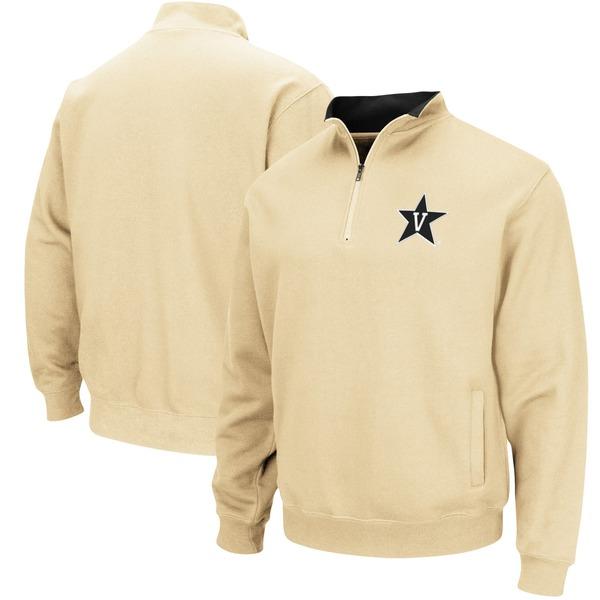 コロシアム メンズ ジャケット&ブルゾン アウター Vanderbilt Commodores Colosseum Tortugas Logo QuarterZip Jacket Charcoal