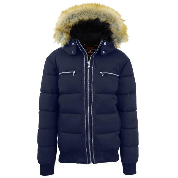 <title>ギャラクシーバイハルビック メンズ アウター ジャケット ブルゾン Navy 全商品無料サイズ交換 新品 送料無料 Men's Heavyweight Jacket With Detachable Faux Fur Hood</title>