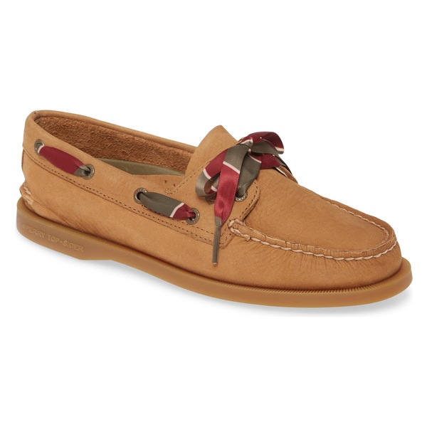スペリー レディース サンダル シューズ Sperry Authentic Original 2-Eyelet Boat Shoe (Women) Tan Suede