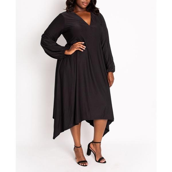 魅力の コルデシナ レディース ワンピース トップス Women's Plus Izzy Empire Dress Black, 小笠町 d799244a