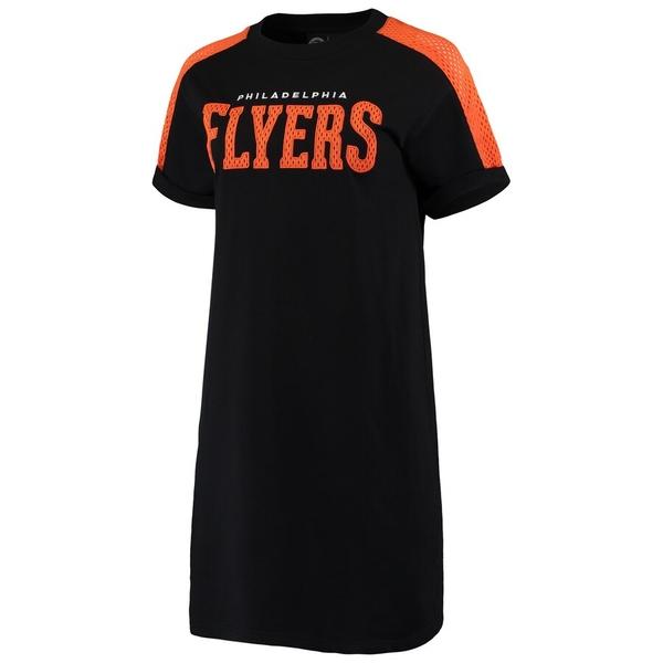 カールバンクス レディース ワンピース トップス Philadelphia Flyers G-III 4Her by Carl Banks Women's Spring Training Camp Dress Black/Orange