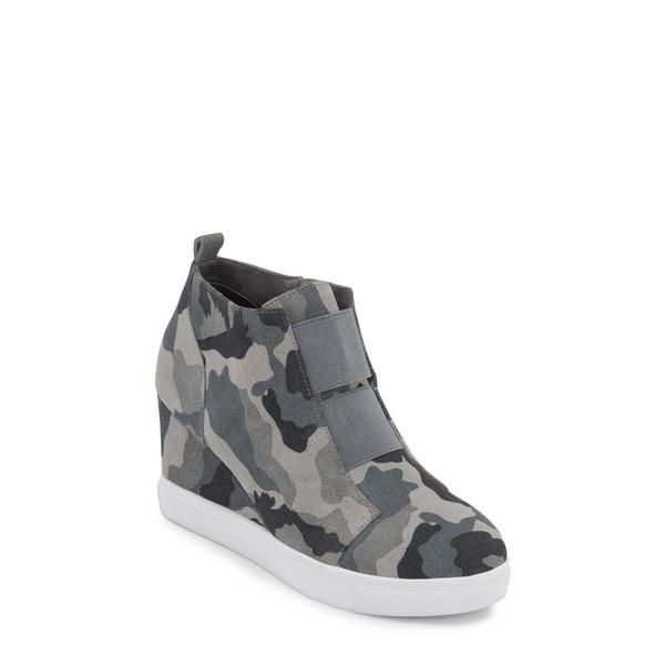 ブロンド レディース スニーカー シューズ Gizella Waterproof Wedge Sneaker Grey Camo Suede