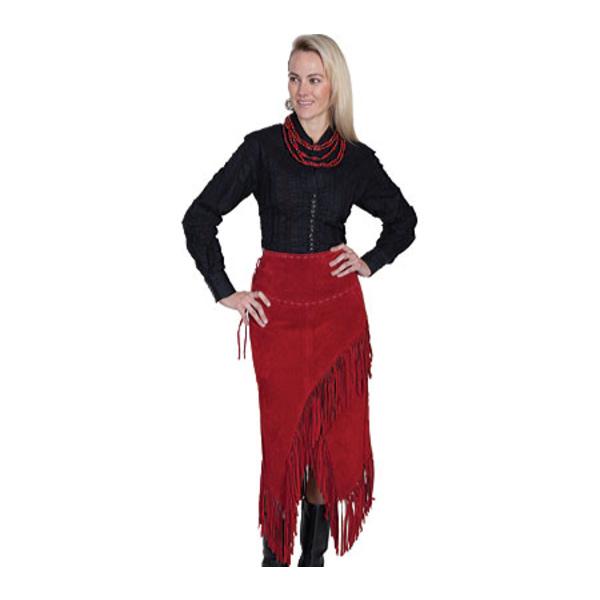新版 スカーリー レディース カジュアルパンツ Red ボトムス Long カジュアルパンツ Suede Fringe Skirt Skirt L659 (Women's) Red Boar Suede, お宮参りの着物の店【京の初着屋】:5f96fb8b --- mtrend.kz