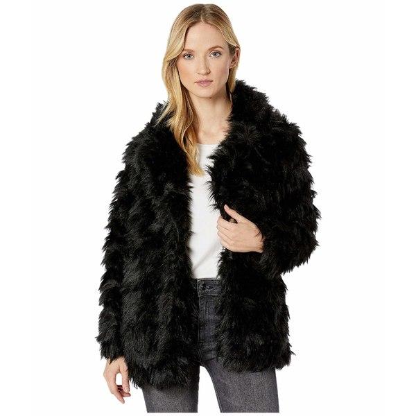 ヴィンスカムート レディース コート アウター Shaggy Faux Fur Coat Rich Black