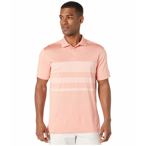 ナイキ メンズ シャツ トップス Dry Vapor Polo Stripe Pink Quartz/Coral Stardust/Pink Quartz