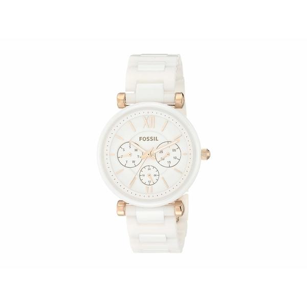 フォッシル レディース 腕時計 アクセサリー Carlie Multi-Function Watch CE1093 White Ceramic