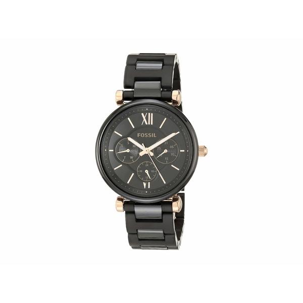 フォッシル レディース 腕時計 アクセサリー Carlie Multi-Function Watch CE1094 Black Ceramic
