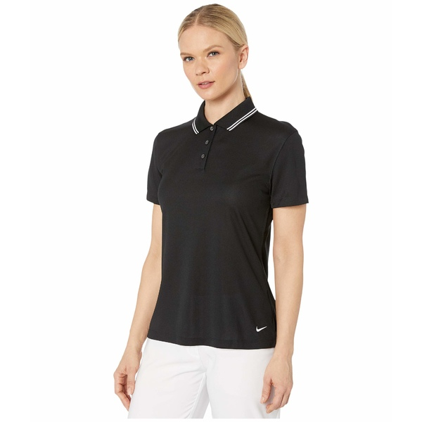 ナイキ レディース シャツ トップス Dry Victory Polo Short Sleeve Solid Black/White/White