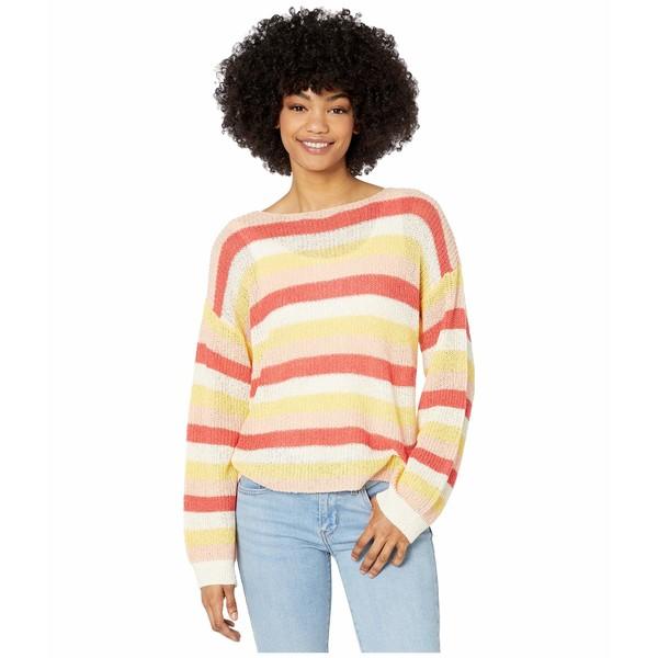 カップケーキアンドカシミア レディース ニット&セーター アウター Lex Multi Stripe Boucle Yarn Boatneck Sweater Ivory