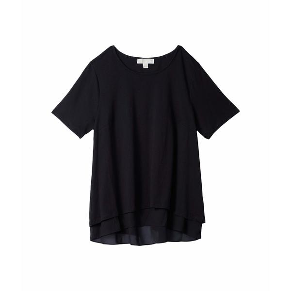 マイケルコース レディース シャツ トップス Plus Size Back Cutout Short Sleeve Top Black