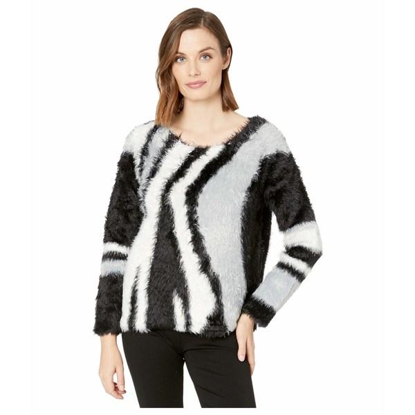 ヴィンスカムート レディース ニット&セーター アウター Long Sleeve Long Eyelash Intarsia Sweater Rich Black