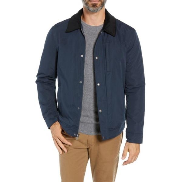 メンズ NAVY Corduroy Collar アウター Jacket Zip Barn コールハーン ジャケット&ブルゾン