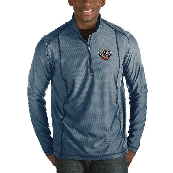 アンティグア メンズ ジャケット&ブルゾン アウター New Orleans Pelicans Antigua Tempo Big & Tall HalfZip Pullover Jacket Charcoal
