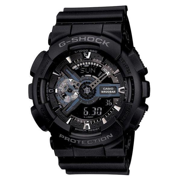 【在庫一掃】 ジーショック レディース 腕時計 アクセサリー Men's Analog Digital Black Resin Strap Watch, 55mm GA110-1B Black, ヨサグン b49489ad