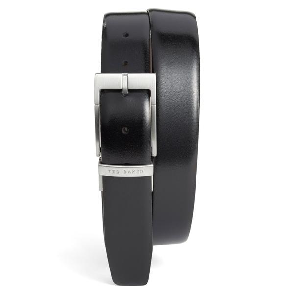 テッドベーカー メンズ ベルト アクセサリー Ted Baker London Reversible Leather Belt Black/ Dark Brown