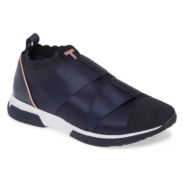 テッドベーカー レディース スニーカー シューズ Ted Baker London Queana Sneaker (Women) Navy Textile