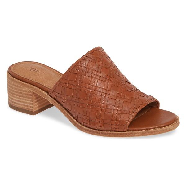 フライ レディース サンダル シューズ Frye Cindy Woven Slide Sandal (Women) Cognac