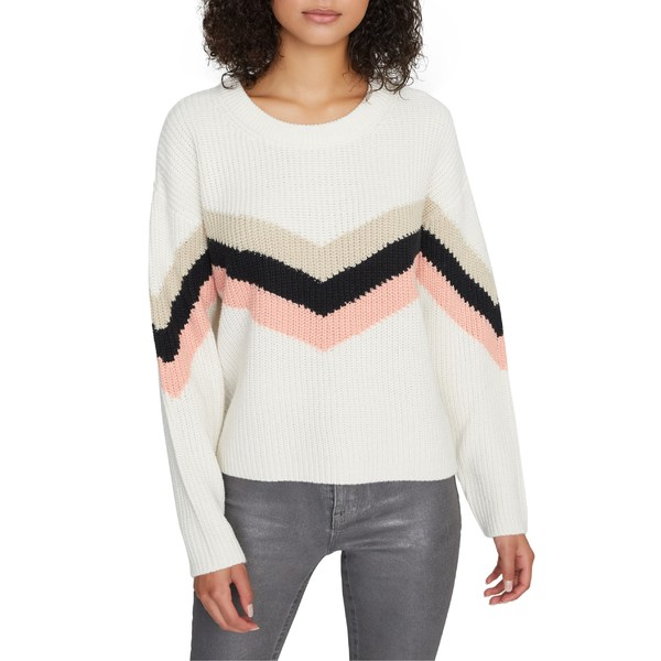サンクチュアリー レディース ニット&セーター アウター Sanctuary Aprs Ski Chevron Sweater (Regular & Petite) Cloud/ Stone/ Blk/ Wshd Coral