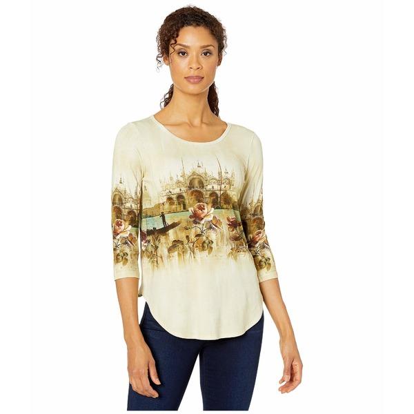 カレンケーン レディース シャツ トップス Venice Canal Shirttail Tee Print