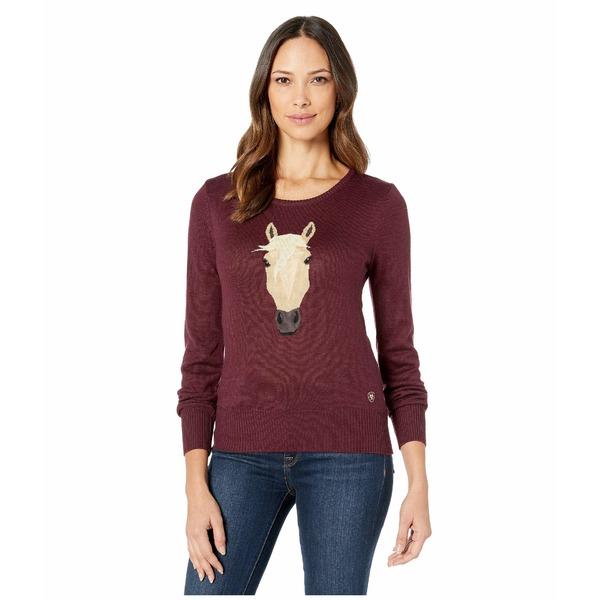 アリアト レディース ニット&セーター アウター Trigger Intarsia Sweater Grapewine